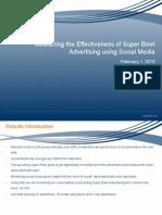 Super Bowl Social Media Results 1 Feb 10