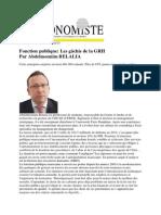 Leconomiste 13 Février 2015Fonction PubliqueLes Gâchis de La GRH