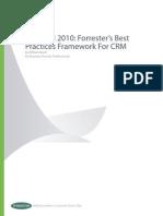 CRM Best Practices Framework Forrester