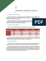 Material Properties Exercise Report