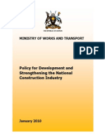National Construction Industry Policy - January 2010