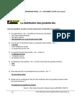 Corrigé CO C1 Doc Court La Distribution Des Produits Bio