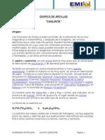 Quimica de Arcillas - Kaolinita