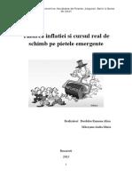 Țintirea Inflației Și Cursul Real de Schimb Pe Piețele Emergente