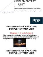 Definitions of Basic and Supplementary Unit