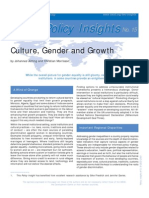 Culture, Gender and Growth