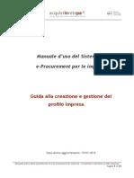 Mercato Elettronico Guida Creazione Gestione Profilo Impresa