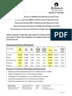 RIL FY 1415 Results