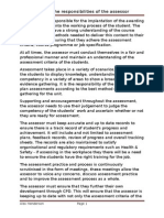 Roles & Responsibilities of an Assessor