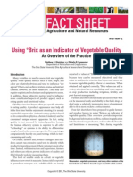 Using °Brix as an Indicator of Vegetable Quality