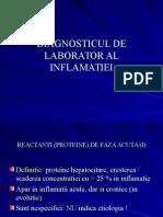 Diagnosticul de Laborator Al Inflamatiei