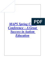 MAPS Spring CME Conference – a Great Success in Autism Education