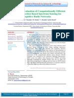 Performance Evaluation of Computationally Efficient Energy Detection Based Spectrum Sensing for Cognitive Radio Networks