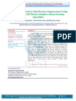 A Novel Approach for Interference Suppression Using a Improved LMS Based Adaptive Beam forming Algorithm