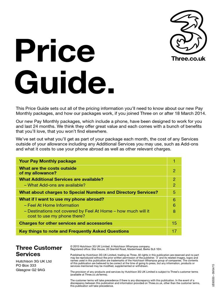 Handset Priceguide April15 | Roaming | Mobile Technology