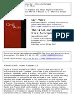 Civil Wars Volume 3 Issue 2 2000 Economides, Spyros -- The Greek and Spanish Civil Wars- A Comparison