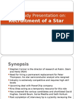 Recruitment of a Star Case solutions