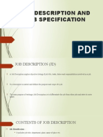 Job Description and Job Specification Presentation
