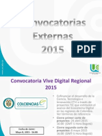 Convocatorias 2015 Abril IMPORTANTE