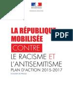 Le plan du gouvernement contre le racisme et l'antisémitisme