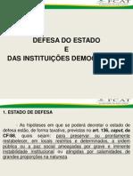 Estado de Defesa e Estado de Sítio(1)