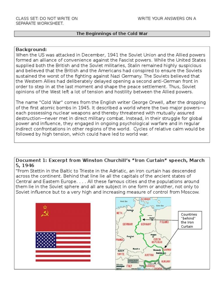 cold war dbq 2013 Cold War