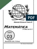 Equação Do 2º Grau - 9º Ano - Colégio Pedro II