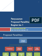 Penyusunan Proposal Penelitian