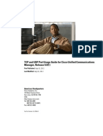 TCP and UDP Port Usage Guide for Cisco Unified Communications Manager Release 9.0(1)