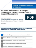 Discussion Policy Paper on Structural Transformation In Ethiopia
