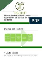 ETAPAS PROCESALES DEL DIVORCIO INCAUSADO EN EL DISTRITO FEDERAL