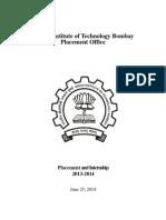 IITB Placement Internship Report 2013-14
