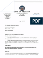 Atlanta City Ethics Office opinion on Councilwoman Keisha Lance Bottoms serving as AFCRA executive director