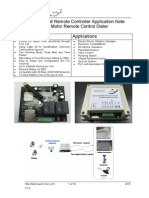 Quark-Elec GSM Remote Contorller DC Motor Remote Control Application Notes-G025