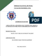 APLICACIÓN DE LA FILOSOFIA LEAN CONSTRUCTION, FRENTE A LOS RETRASOS DE OBRA POR INCOMPATIBILIAD DE EXPEDIENTE
