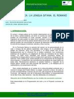 Unidad Didactica Lengua Gitana El Romano Cultura Gitana