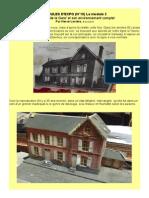MODÉLISME FERROVIAIRE  à l'échelle HO (N°18) Le module 2 Un 'Hôtel de la Gare' et son environnement complet. Par Hervé Leclère. © Avril 2015