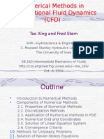 Numerical Methods in Computational Fluid Dynamics CFD