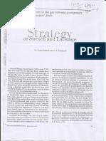Strategy Stretch 1