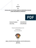 MODELLING OF CUTTING FORCES IN PERIPHERAL MILLING