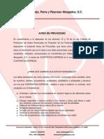 AVISO DE PRIVACIDAD CONTRATOS EXPRESS
