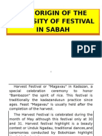 The Origin of the Intensity of Festival in Sabah