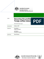Securing the Profitability of the Toraja Coffee Industry