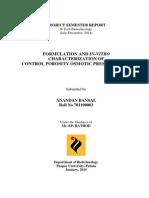 Report on Control porosity osmotic pressure pumps