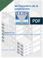 Informe de Coyuntura de la Industria de la Construcción Argentina