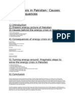 Energy Crisis in Pakistan