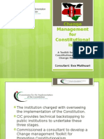 Change Management for Constitutionalism