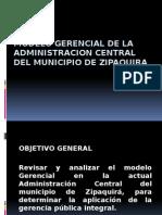 Modelo Gerencial de La Administracion Central Del Municipio