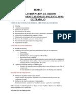 Resumen Planificación de Medios (Tema 7)