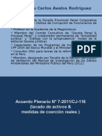 Acuerdo Plenario N° 7-2011